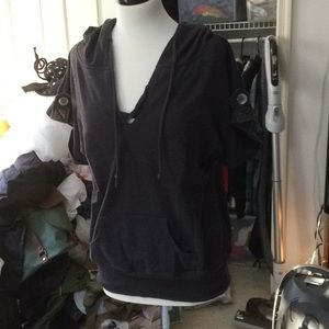 Wet Seal Short-Sleeved Hoodie